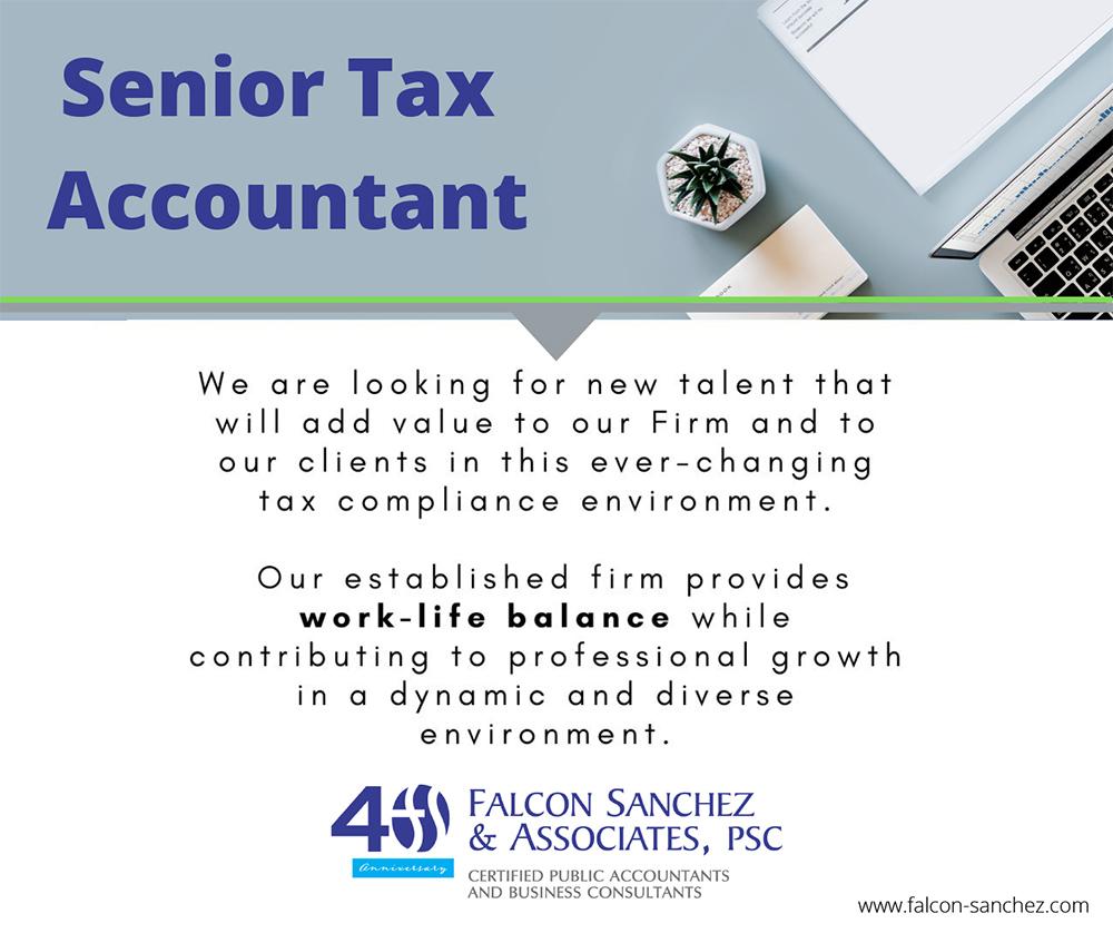 Senior Tax Accountant