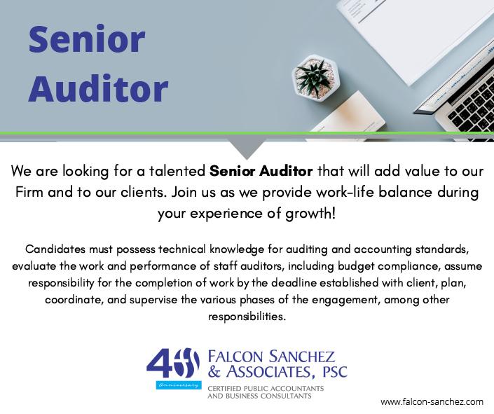 Senior Auditor
